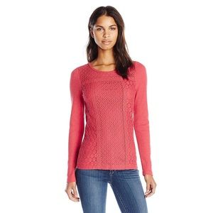 3/$30 Lucky Brand Berry Mixed Lace Thermal Medium